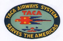 Airline label luggage TACA South America pretty  #068